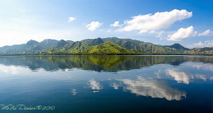 a peaceful day in Komodo NP. A mirror view of Rinca island by Mona Dienhart 